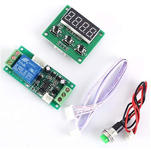 YEZIB Módulo de relevo Módulo de relé Multifuncional de retardo Ajustable de Alto Nivel de activación Controlador de Lazo de 12 V DC para el Voltaje de Control