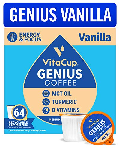 Vanilla MCT Coffee Pods (K-Cup Compatible)