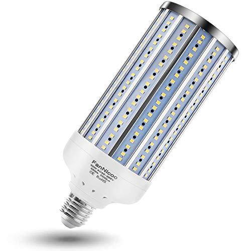 500W Equivalent LED Corn Light Bulb 5500Lumen 6500k 60W Large Area Cool Daylight White Corn Bulb E26/E27 Medium Base for Indoor Outdoor Garage Warehouse Factory Workshop Barn Backyard New Upgraded