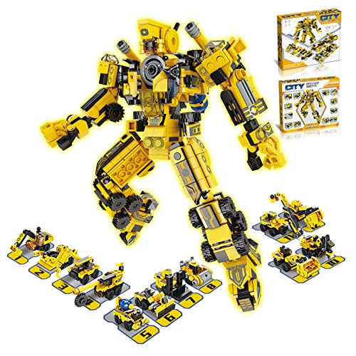 Mulukiss Building Blocks, Robot Building Toy Set 573pcs STEM Construction Blocks 25 Playstyles Gift for Kids Boys & Girls Age 6 7 8 9 10 +