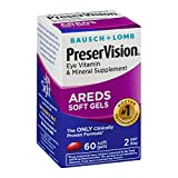 PreserVision AREDS Eye Vitamin & Mineral Supplement - 60 Softgels, Pack of 2