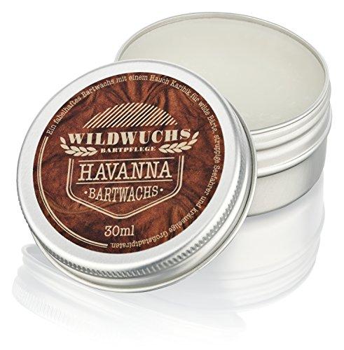 Baume barbe HAVANNA (30 ml) Cire pour barbe - Moustache Wax - Qualité allemande - Beard Balm pour le stylisme de la barbe de Wildwuchs Bartpflege - Cadeau pour hommes barbus