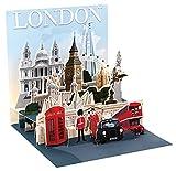 Pop Up 3D London PopShot Städtekarte Geburtstag Grußkarte Tourist Highlights 13x13cm