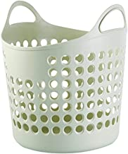 Laundry Basket Plastic Storage Baskets Good Resilience Large Capacity Cutout Breathable With Handles, 3 Colors, 2 Sizes (C...
