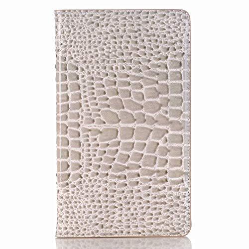 Haiqing Funda de piel de cocodrilo con función atril para tablet Huawei Mediapad M5 8.4' 2018 SHT-AL09/SHT-W09 (color: gris)