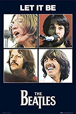 The Beatles (Let It Be) Music Poster Print - 24x36 Poster Print, 24x36 Poster Print, 24x36