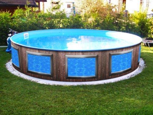 Verkleidung Pool * Aufkleber Außenwand * Swimmingpool Dekoration außen * Designbecken * Fenster A1 * Höhe: 120 cm