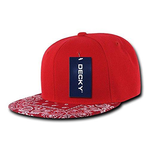 Decky Bandana Snapback, Unisex, 1093-REDRED, Rot/Rot, Einheitsgröße