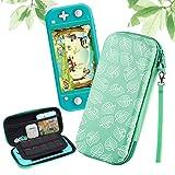 Funda para Nintendo Switch Lite, Slim Carry Case Protector Carcasa para Switch Lite [para Animal: New Horizons], Silicona PU Funda Portátil Delgada de Almacenamiento para Nintendo Switch Lite -Verde