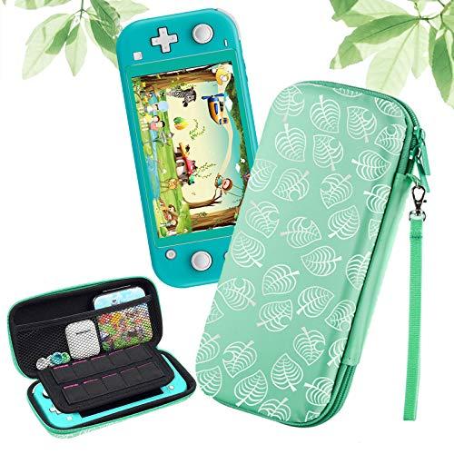 Haobuy Tasche für Switch Lite, Tragetasche Schutzhülle für Switch Lite [Design für Leaf Crossing], Tragbare Reisetasche Hülle für Switch Lite Konsole & Zubehör - Grün