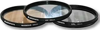 AGFA 3-Piece Professional Filter Kit 58mm - Ultraviolet (UV) + Circular Polarizor (CPL) + Warming Intensifier APFTK58 (OLD MODEL)