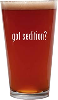got sedition? - 16oz Beer Pint Glass Cup