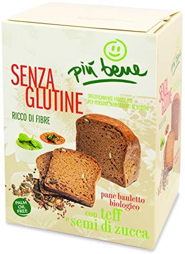 Brot mit Teffmehl und Kürbiskernen glutenfrei BIO 250 g Piu Bene