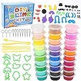 Luclay 30 Colores Arcilla Seca al Aire, Arcilla de Modelado Ultraligero, Magic Clay Artist Studio Toy, Arcilla y Masa de Modelado no tóxico, Arte Creativo DIY Crafts, Regalo para niños