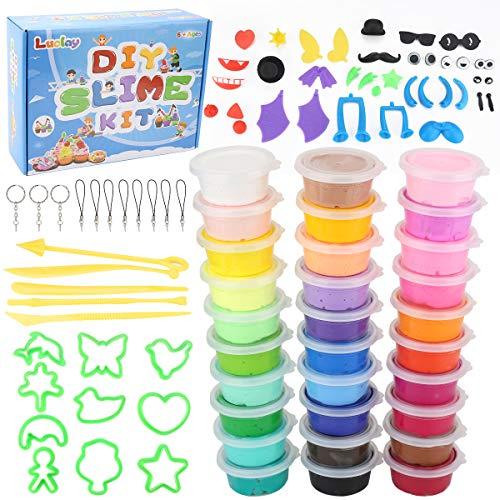 Luclay 30st DIY Fluffy Schleim Kinder Putty Spielzeug Beste Weihnachten und Geschenke Slime Stress Relief Toy für Kinder und Erwachsene Weich
