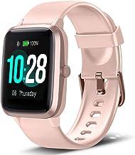 Lintelek Smart Watch, Full Touch Screen Smartwatch, 1.3 Inch Fitness Tracker with HR..