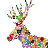 ZoomSky 600Stk Bunte Knöpfe Rund Batelknöpfe Kinderknöpfe in Verschiedene Größen und Farben zum Basteln Set Für Kinder DIY Nähen Taschen Painting Deko Geschenk