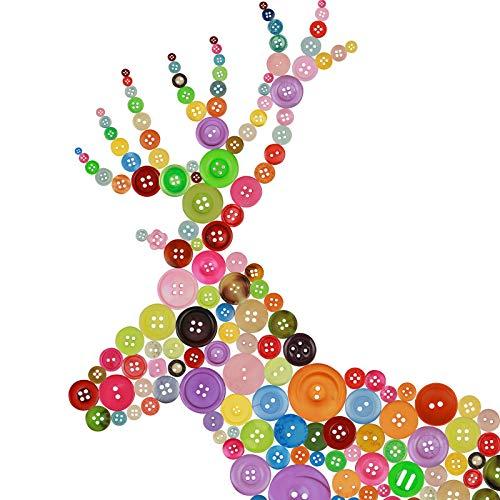 600pcs botones color vivo vintage ZoomSky botones manualidades surtidos botones pequeños bonitos mezcla de patrones costura labores de Patchwork de botón grande en casa