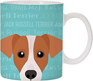 Adorable Dog Breed Specific 11oz Ceramic Coffee Mug (Jack Russell Terrier)