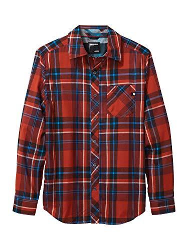 Marmot Herren Anderson Lightweight Flannel Langärmeliges Outdoor-Hemd, Wander-Shirt Mit Uv-Schutz, Atmungsaktiv, Burgundy, S