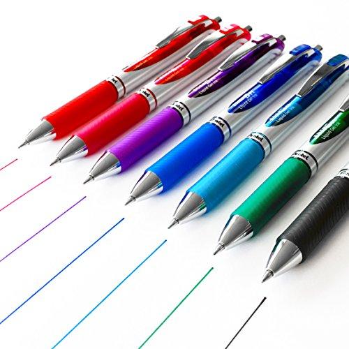 Pentel Energel XM BL77– Bolígrafo de tinta de gel, 0,7mm–hecho de un 52% de materiales reciclados–7unidades