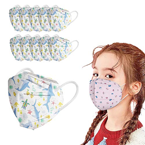 Face_Masks for Kids , FDẴ Certified Coronàvịrụs Protectịon 5-Ply Cute Cartoon Whales Printed Face_Masks (50PC)