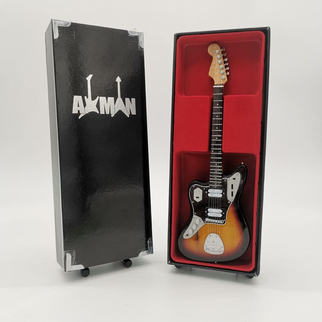 Kurt Cobain (Nirvana) - Réplica de guitarra en miniatura