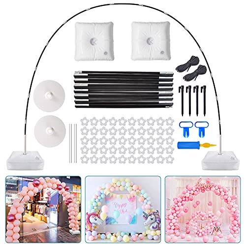 Chamvis Balloon Arch Kit,9FT Tall & 10Ft Wide Adjustable Balloon Arch Stand with Water Fillable Base,50Pcs Balloon Clips,Balloon Pump Knotter Dot Glue-For Wedding Baby Shower Birthday Party Supplies Decorations
