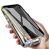 iPhone XS ケース iphone x ケース スマホケース 覗見防止 両面 前後 ガラス 9hガラスケース ……