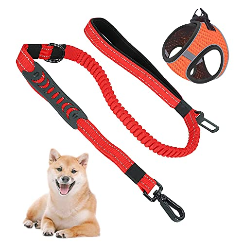 WZWHJ Useful Dog Car Harness Seatbelt Set Multifunction Breathable Fabric Vest in Vehicle for Trip and Daily Use (Size : SSmall)