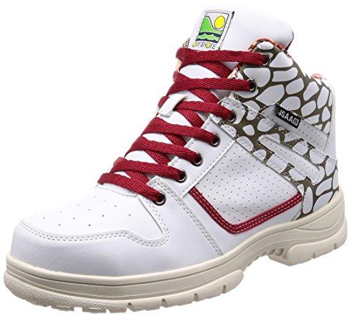 [ジーデージャパン] 鋼製先芯入り 作業靴 オフショア サーフブランド 3E OS-712 ホワイト 25.5 cm