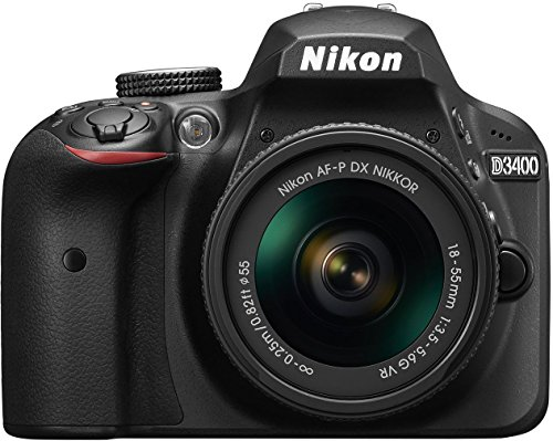 Nikon D3400 24.2 MP Digital SLR Camera (Black) + AF-P DX Nikkor 18-55mm f/3.5-5.6G VR Lens Kit +...