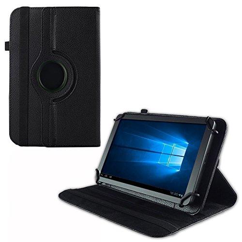 UC-Express Tablet Hülle TrekStor Surftab Breeze 7.0 Tasche Schutzhülle Hülle Cover Drehbar, Farben:Schwarz