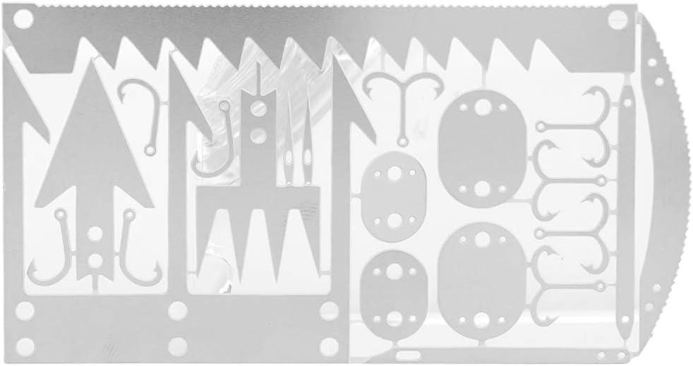 Tarjeta de herramientas de supervivencia de 4 piezas, el mejor kit de supervivencia de caza de herramientas múltiples Kit de emergencia Herramientas de bolsillo para pesca Camping Senderismo