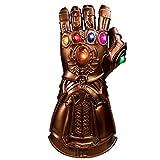 BIRDEU Thanos Gauntlet Infinity Gauntlet Gant avec LED Energy Stones Film Jouets pour Hommes Adultes Halloween Déguisements Vêtements Fête Articles