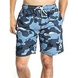 Leisure sport(レジャー スポート) 水着 メンズ 海水パンツ サーフパンツ トランクス ラッシュガード gma02 S カモフラブルー