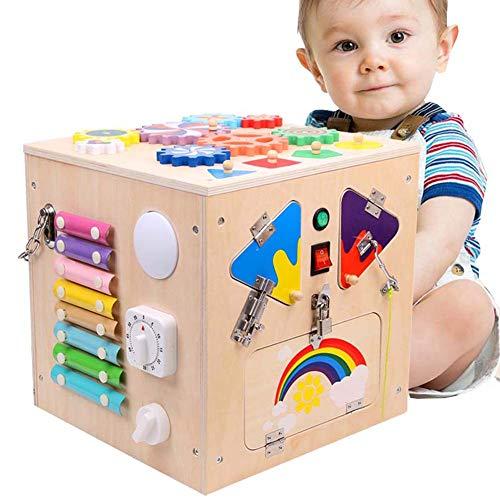 Montessori Madera del Juguete del Cubo, Junta Actividad 20 en 1 Forma clasificador, Regalo Educativo...