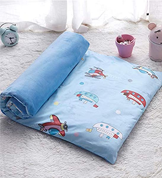 GDZFY Premium Cotton Toddler Nap Mat Soft Breathable Fluffy Mattress Toppers Tatami Mat Non Slip Hypoallergenic Comfortable Toddler Rolled Nap Mat B 80x150cm 31x59inch