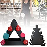 Newest 3 Tier Dumbbell Rack,Free Weights Dumbbells Set for Home Gym Exercise, 3/5 Tier Weight Racks for Dumbbells,Weight Tower