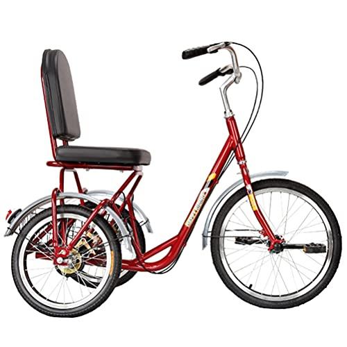 Triciclo Para Adultos Con Respaldo, Bicicleta Estática De 3 Ruedas De Una Velocidad Con Canasta Para Mujer Hombre, Personas Mayores De Compras, Material De Acero Con Alto Contenido De Carbono,