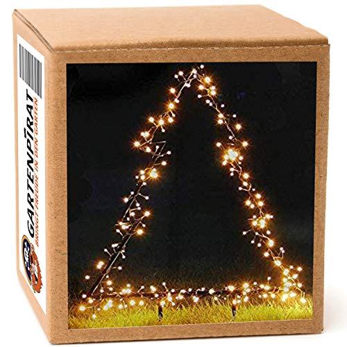 Tanne 100 cm Metall 225 LED Gartenfigur Weihnachten außen mit Erspieß von Gartenpirat®