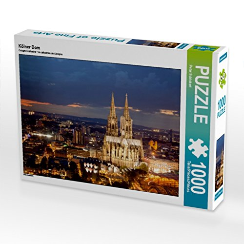 CALVENDO Puzzle Kölner Dom 1000 Teile Lege-Größe 64 x 48 cm Foto-Puzzle Bild von Peter Schickert