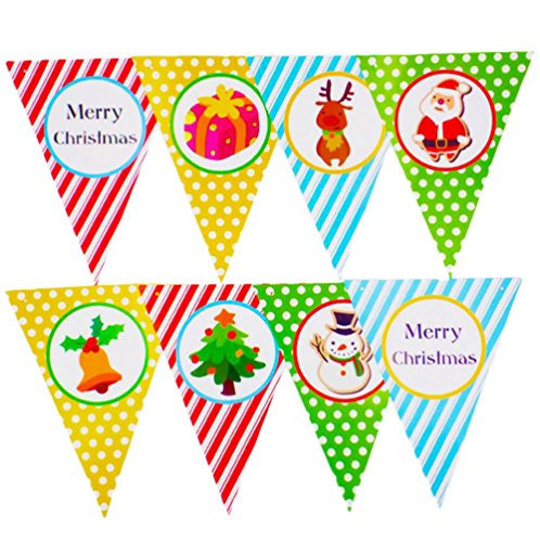 Lumanuby 8 Leaf Pull the Flag Créatif Bande DIY Party Wedding Décorations de Noël Triangle Flags Decoration Banner