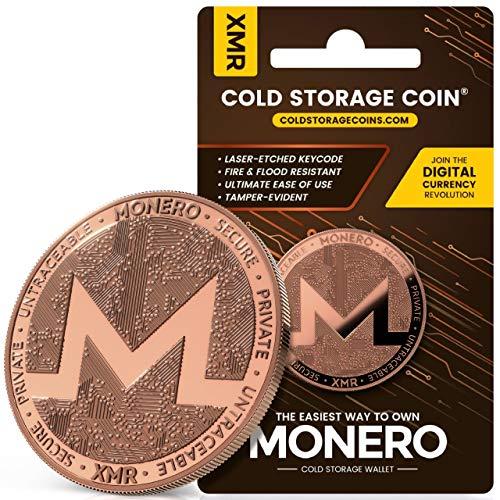 Monero Cold Storage Wallet - 1 Ounce 999 Fine Copper - Securely Store Monero Offline