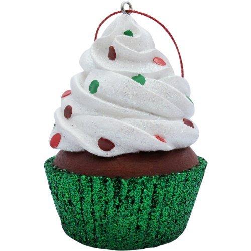 Jillson Roberts Cupcake de Noël Ornement, Blanc Confettis Paillettes