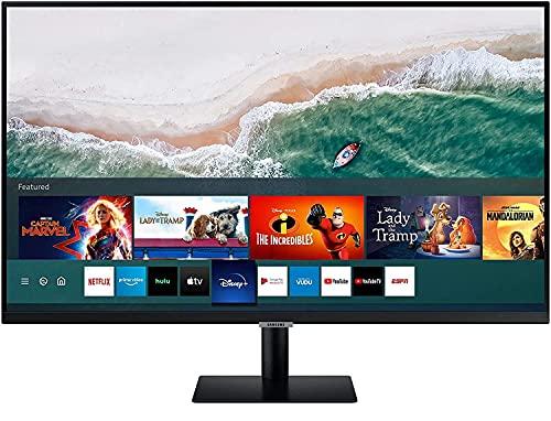 Samsung LS27AM502NRXEN - Monitor Samsung Smart M5 de 27'' Full HD, 1920x1080, Altavoces, Conectividad Móvil, Mando a Distancia y Aplicaciones de Smart TV (Netflix, Prime TV, Youtube)