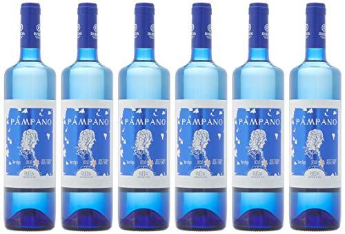 Pampano Vino Blanco Semi Dulce D.O Rueda - 6 Botellas de 750