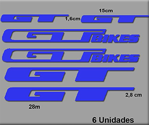 Ecoshirt VW-7NPR-ZS69 Sticker GT Bikes R70 Sticker Decals Sticker, Blauw