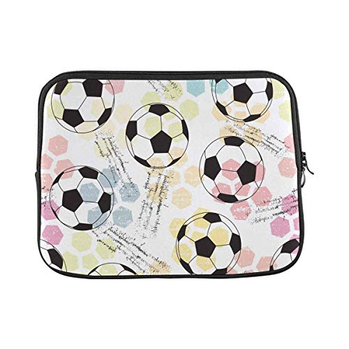INTERESTPRINT Laptop Carrying Case Cover Print and Soccer Ball Notebook Computer Sleeve Bag 11 Inch 11.6 Inch