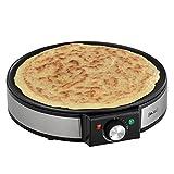 [in.tec] Crepes Platte Crepe Maker - inkl. Crepes-Wender Wrapmaker Pfannkuchen-Pfanne Omelette Wrap 1200W -